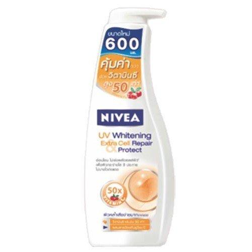 โลชั่นผิวขาว Niver Body Lotion UV Whitening Extra Cell Repair & Protech