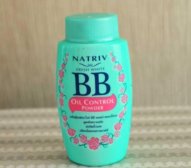 แป้งฝุ่นคุมมัน Natriv BB Oil Control Powder
