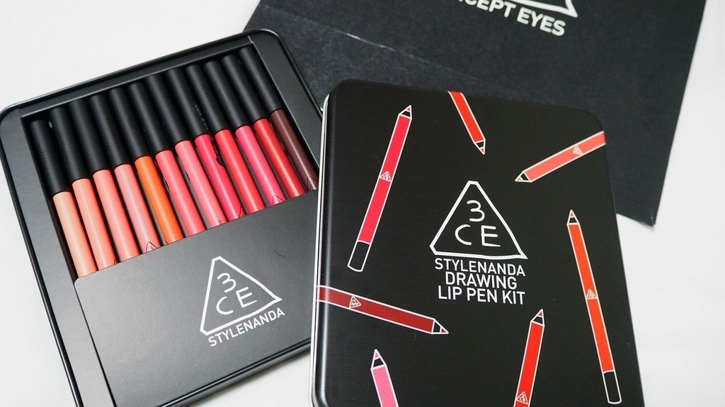 เครื่องสำอางเกาหลี 3CE Drawing Lip Pen Kit