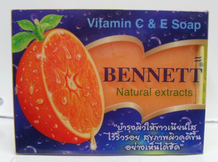 ผิวขาวใสด้วยสบู่ BENNETT C & E สีส้ม