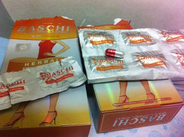 ยาลดความอ้วน บาชิส้ม เม็ดยาสีขาวแดง