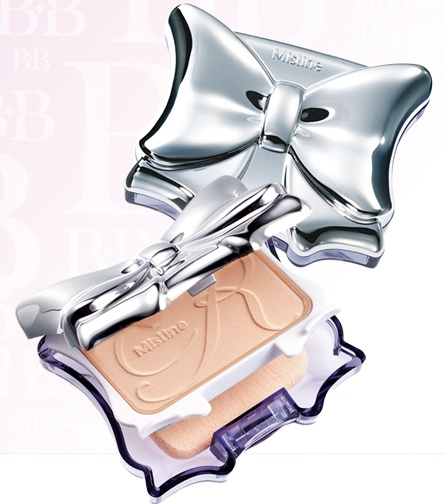 แป้งพัฟ Mistine Ribbon BB Powder SPF25 PA++
