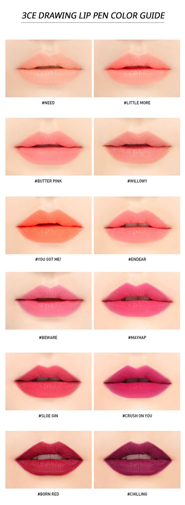 ลิป 3CE Stylenanda Drawing Lip Pen Kit