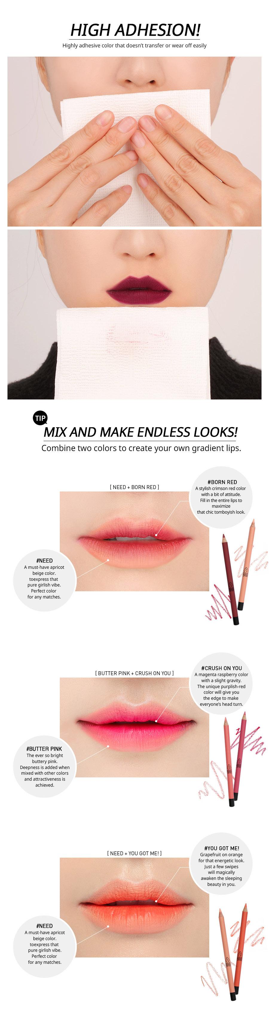 ลิป 3CE Stylenanda Drawing Lip Pen Kit