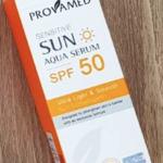 ครีมทาหน้า Provamed Sun Aqua Serum SPF50