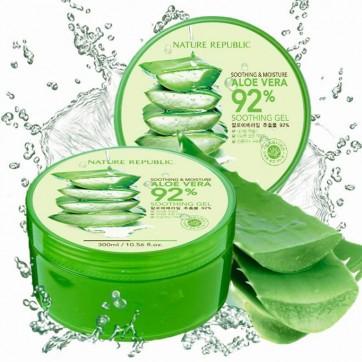 เครื่องสำอางเกาหลี Nature Republic Soothing & Moisture Aloe Vera 92% Soothing Gel
